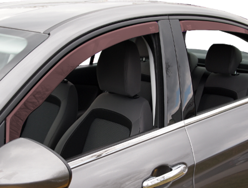 Wind deflectors of front car windshield